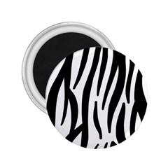 Seamless Zebra A Completely Zebra Skin Background Pattern 2 25  Magnets by Amaryn4rt