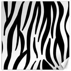 Seamless Zebra A Completely Zebra Skin Background Pattern Canvas 12  X 12   by Amaryn4rt