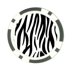 Seamless Zebra A Completely Zebra Skin Background Pattern Poker Chip Card Guard by Amaryn4rt