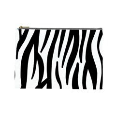 Seamless Zebra A Completely Zebra Skin Background Pattern Cosmetic Bag (large)  by Amaryn4rt