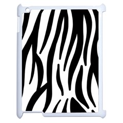 Seamless Zebra A Completely Zebra Skin Background Pattern Apple Ipad 2 Case (white) by Amaryn4rt