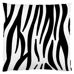 Seamless Zebra A Completely Zebra Skin Background Pattern Large Cushion Case (two Sides) by Amaryn4rt