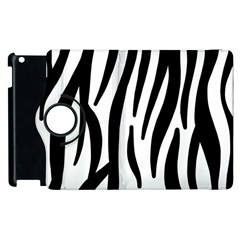 Seamless Zebra A Completely Zebra Skin Background Pattern Apple Ipad 3/4 Flip 360 Case by Amaryn4rt