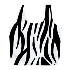 Seamless Zebra A Completely Zebra Skin Background Pattern Full Print Recycle Bags (l)  by Amaryn4rt