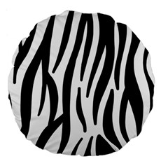Seamless Zebra A Completely Zebra Skin Background Pattern Large 18  Premium Flano Round Cushions by Amaryn4rt