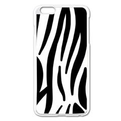 Seamless Zebra A Completely Zebra Skin Background Pattern Apple Iphone 6 Plus/6s Plus Enamel White Case by Amaryn4rt