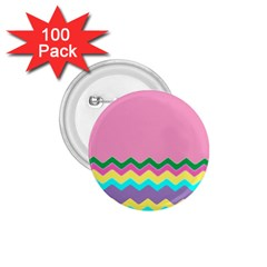 Easter Chevron Pattern Stripes 1 75  Buttons (100 Pack)  by Amaryn4rt