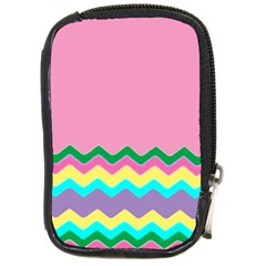 Easter Chevron Pattern Stripes Compact Camera Cases by Amaryn4rt