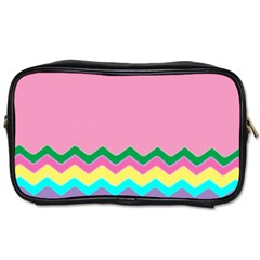 Easter Chevron Pattern Stripes Toiletries Bags 2 Side by Amaryn4rt