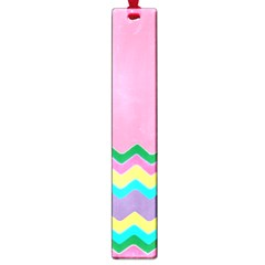 Easter Chevron Pattern Stripes Large Book Marks by Amaryn4rt