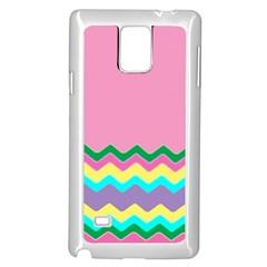 Easter Chevron Pattern Stripes Samsung Galaxy Note 4 Case (white) by Amaryn4rt