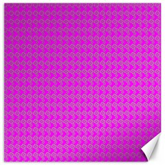 Clovers On Pink Canvas 20  X 20   by PhotoNOLA