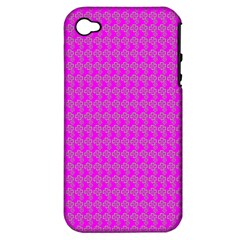 Clovers On Pink Apple Iphone 4/4s Hardshell Case (pc+silicone) by PhotoNOLA
