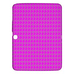 Clovers On Pink Samsung Galaxy Tab 3 (10 1 ) P5200 Hardshell Case  by PhotoNOLA