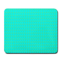 Clovers On Blue Large Mousepads by PhotoNOLA