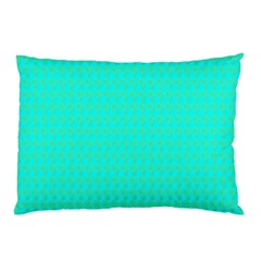 Clovers On Blue Pillow Case (two Sides) by PhotoNOLA