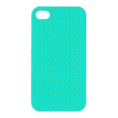 Clovers On Blue Apple Iphone 4/4s Premium Hardshell Case by PhotoNOLA
