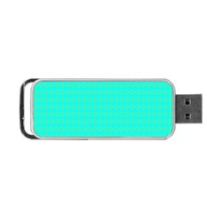 Clovers On Blue Portable Usb Flash (two Sides) by PhotoNOLA