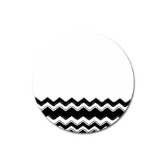 Chevrons Black Pattern Background Magnet 3  (round) by Amaryn4rt