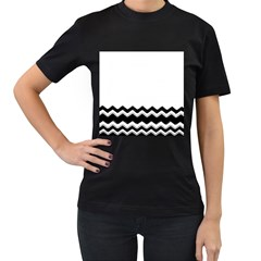 Chevrons Black Pattern Background Women s T Shirt (black) (two Sided)