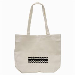 Chevrons Black Pattern Background Tote Bag (cream) by Amaryn4rt