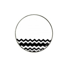 Chevrons Black Pattern Background Hat Clip Ball Marker (4 Pack) by Amaryn4rt