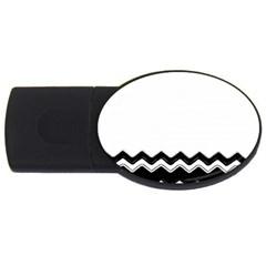 Chevrons Black Pattern Background Usb Flash Drive Oval (4 Gb) by Amaryn4rt