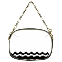 Chevrons Black Pattern Background Chain Purses (one Side)  by Amaryn4rt