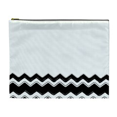 Chevrons Black Pattern Background Cosmetic Bag (xl) by Amaryn4rt