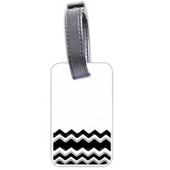 Chevrons Black Pattern Background Luggage Tags (one Side)  by Amaryn4rt