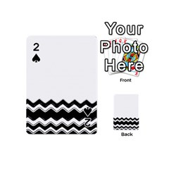 Chevrons Black Pattern Background Playing Cards 54 (mini)  by Amaryn4rt