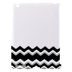 Chevrons Black Pattern Background Apple Ipad 3/4 Hardshell Case (compatible With Smart Cover) by Amaryn4rt