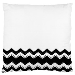 Chevrons Black Pattern Background Large Cushion Case (two Sides) by Amaryn4rt