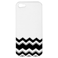 Chevrons Black Pattern Background Apple Iphone 5 Hardshell Case by Amaryn4rt