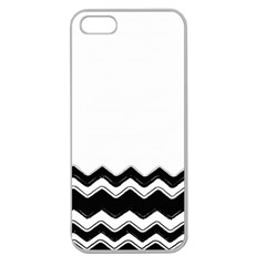 Chevrons Black Pattern Background Apple Seamless Iphone 5 Case (clear) by Amaryn4rt