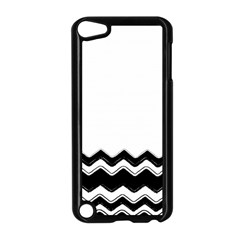 Chevrons Black Pattern Background Apple Ipod Touch 5 Case (black) by Amaryn4rt