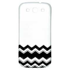 Chevrons Black Pattern Background Samsung Galaxy S3 S Iii Classic Hardshell Back Case by Amaryn4rt