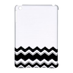 Chevrons Black Pattern Background Apple Ipad Mini Hardshell Case (compatible With Smart Cover) by Amaryn4rt