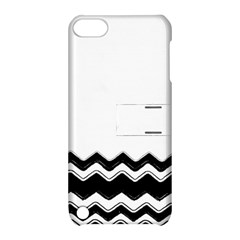 Chevrons Black Pattern Background Apple Ipod Touch 5 Hardshell Case With Stand by Amaryn4rt