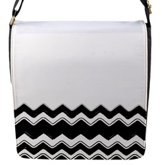Chevrons Black Pattern Background Flap Messenger Bag (s) by Amaryn4rt