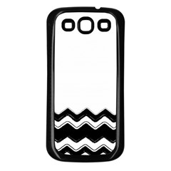 Chevrons Black Pattern Background Samsung Galaxy S3 Back Case (black) by Amaryn4rt