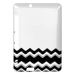 Chevrons Black Pattern Background Kindle Fire Hdx Hardshell Case by Amaryn4rt