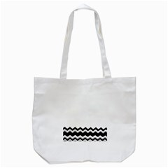 Chevrons Black Pattern Background Tote Bag (white) by Amaryn4rt