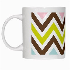 Chevrons Stripes Colors Background White Mugs by Amaryn4rt