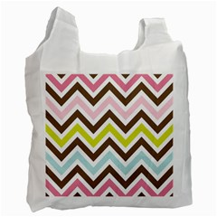 Chevrons Stripes Colors Background Recycle Bag (two Side)  by Amaryn4rt