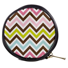 Chevrons Stripes Colors Background Mini Makeup Bags by Amaryn4rt