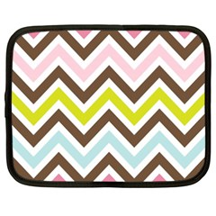 Chevrons Stripes Colors Background Netbook Case (xxl)  by Amaryn4rt