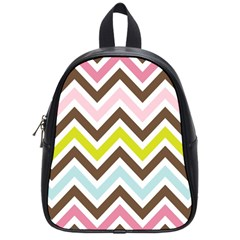 Chevrons Stripes Colors Background School Bags (small)  by Amaryn4rt