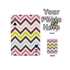 Chevrons Stripes Colors Background Playing Cards 54 (mini)  by Amaryn4rt