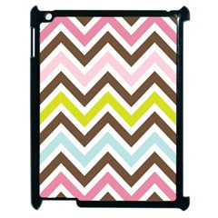 Chevrons Stripes Colors Background Apple Ipad 2 Case (black) by Amaryn4rt